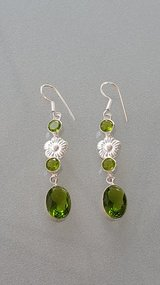 Women's Peridot Silver Earrings in Oswego, Illinois