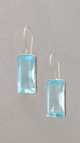 Topaz Silver Earrings in Oswego, Illinois