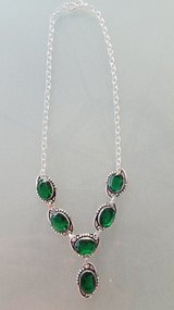 Women's Emerald Stone Necklace in Oswego, Illinois