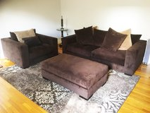 3-Piece Lombardy Microsuede Sofa Set - $700 OBO in Pearland, Texas