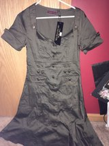 women's green army style dress in Naperville, Illinois