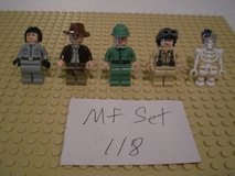 5 Lego Indiana Jones Minifigs Group 118 in Chicago, Illinois