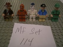 5 Lego Indiana Jones Minifigs Group 114 in Chicago, Illinois
