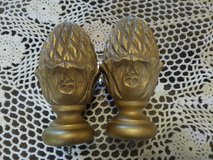 """5"""" CURTAIN ROD FINIALS for 1-3/8"""" Inlay ROD. FRENCH GOLD. Sculptured. in Alamogordo, New Mexico"""