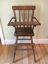 "WOOD Doll or Bear High Chair with Moveable Tray 26"" Tall Display Quality in Quantico, Virginia"