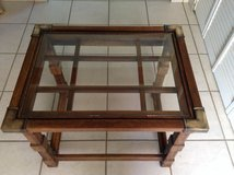 """Table vintage - crafted by """"Liberty"""" from solid wood in Yucca Valley, California"""