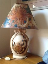 Southwest Lamp designed in leather and metal in Yucca Valley, California