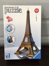 LIKE NEW Ravensburger 3D Eiffel Tower Puzzle - 216 Pieces in Glendale Heights, Illinois