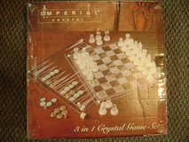 Imperial Crystal 3 in 1 Game Set Chess/Checkers/Backgammon. New and Unused. in Fort Polk, Louisiana