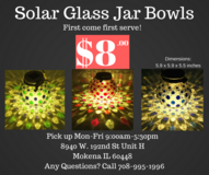 Solar Glass Jar Bowls for Decoration Party Yard Garden Lawn Deck Patio Office Desk in Schaumburg, Illinois