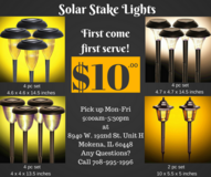 Solar Stake Lights for Camping Outdoors Nature Yard Lawn Garden Walkway Driveway Patio in Orland Park, Illinois
