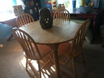 "Table 6 chairs oval 54""long without leave 43""wide has a few marker spots on top in Spring, Texas"