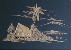 Vintage 1950's Philippines Straw Art on Fabric in Spangdahlem, Germany