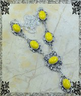 New - Yellow Agate Necklace in Alamogordo, New Mexico
