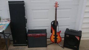 Bass Guitar, Stand. and 2 amps in Byron, Georgia