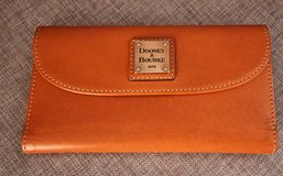 DOONEY & BOURKE Camel Color Leather Wallet with Checkbook in Okinawa, Japan