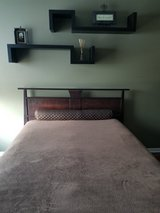 Dania Queen Size Bed  with Mattress  and Comforter in Elgin, Illinois