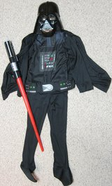 Darth Vader Costume with Light Saber in Naperville, Illinois