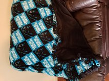 Hand crafted Tie blanket - Carolina Panthers in Wilmington, North Carolina