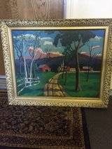 Oil painting in Travis AFB, California