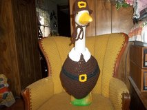 Pilgrim Thanksgiving Geese Goose Outfit Crochet Garden Decor in Belleville, Illinois