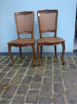 2 antique chairs from France with Seashell in Ramstein, Germany