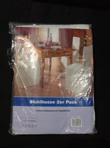 2 White Chair + 1 Table Cover Set + w/ 2 pillows in Clarksville, Tennessee