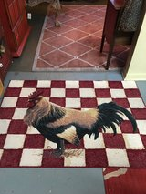 """Rooster rug 39""""x55""""very nice condition in Conroe, Texas"""