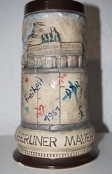 WW-Team Limited Edition No. 649 of 6000 Berlin Wall Stein in Spangdahlem, Germany