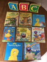 Sesame Street Books: Set of 11 incl 3 board books and 8 picture story books in Cherry Point, North Carolina