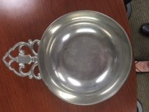 Pewter dish in Bolingbrook, Illinois