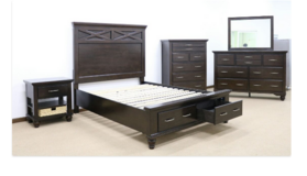 United Furniture - Cross QS Bed Set - New Item - including delivery in Spangdahlem, Germany