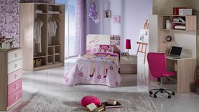 "United Furniture - Girls Twin Bed - ""My Family"" with ""Optimum"" Mattress including delivery in Spangdahlem, Germany"