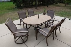 Patio Set With Table and 6 Chairs in Naperville, Illinois