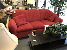 Red Pattern Couch in Naperville, Illinois