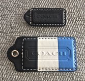 *REDUCED* COACH Leather Logo Hang Purse/ Bag/ Tote/ Tags/ Charms. Set of 2. in Okinawa, Japan