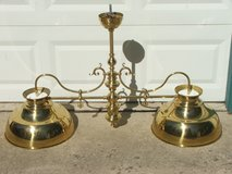 Ornate Brass Hanging Canopy Light Fixture in Naperville, Illinois