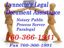 Lynnette's Legal Document Assistance in Yucca Valley, California
