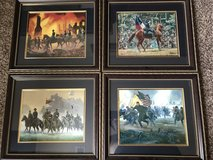 """4 - 16""""x18"""" Civil War Pictures with Matching Frames in Dothan, Alabama"""