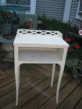 vintage white telephone table shabby chic! in Naperville, Illinois