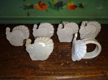 6 Clay Turkey Napkin Holders in Alamogordo, New Mexico