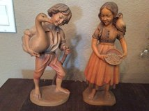 Pair of wooden figures - Reduced in Houston, Texas