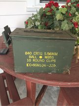 ammunition boxes total of 15 left in Beaufort, South Carolina