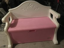 Little tykes pink bench toy box in Fort Hood, Texas