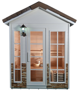 Outdoor Canadian Hemlock Wood Wet Dry Sauna – AlekoProducts.com in Tacoma, Washington