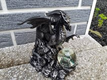 dragon figures with snow globe in Ramstein, Germany