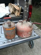 2 Vintage Gas Cans in Fort Polk, Louisiana