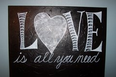 Love is all you need painting in Conroe, Texas
