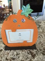 4x6 pumpkin picture frame, brand new! in Naperville, Illinois