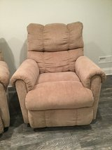 Lane Reclining Chair in Stone Corduroy Like New in Aurora, Illinois